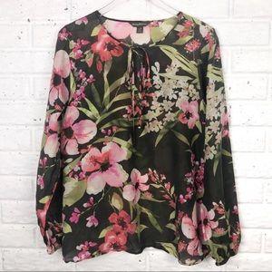 TOMMY BAHAMA floral silk blend blouse